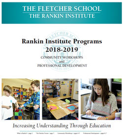 2018-2019 Rankin Institute Brochure